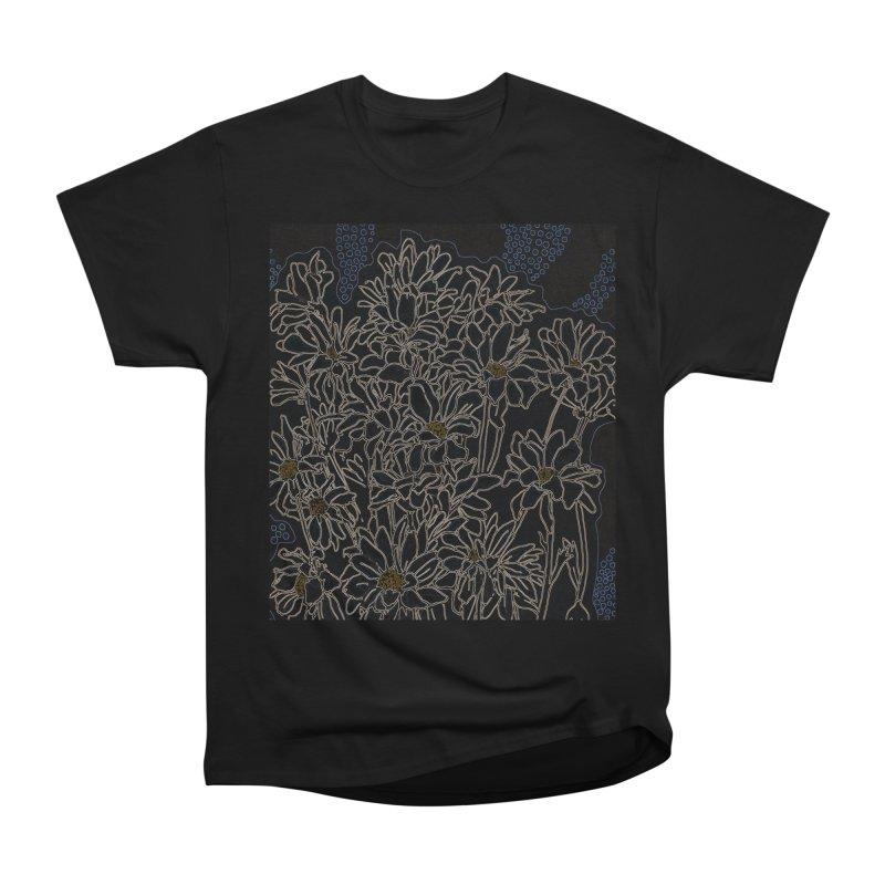 Daisy Chrysanthemum, black Men's T-Shirt by Clipso-Callipso