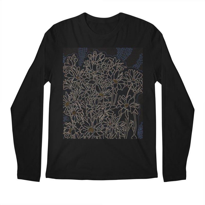Daisy Chrysanthemum, black Men's Longsleeve T-Shirt by Clipso-Callipso
