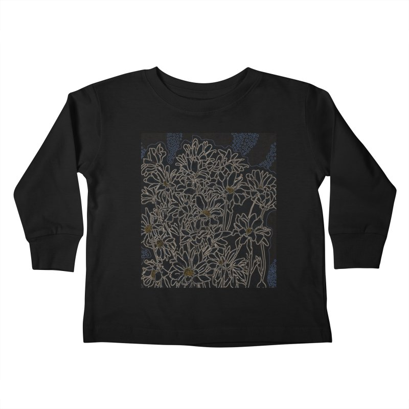 Daisy Chrysanthemum, black Kids Toddler Longsleeve T-Shirt by Clipso-Callipso