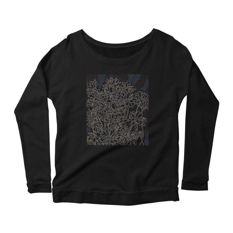 Daisy Chrysanthemum, black Women's Longsleeve T-Shirt by Clipso-Callipso