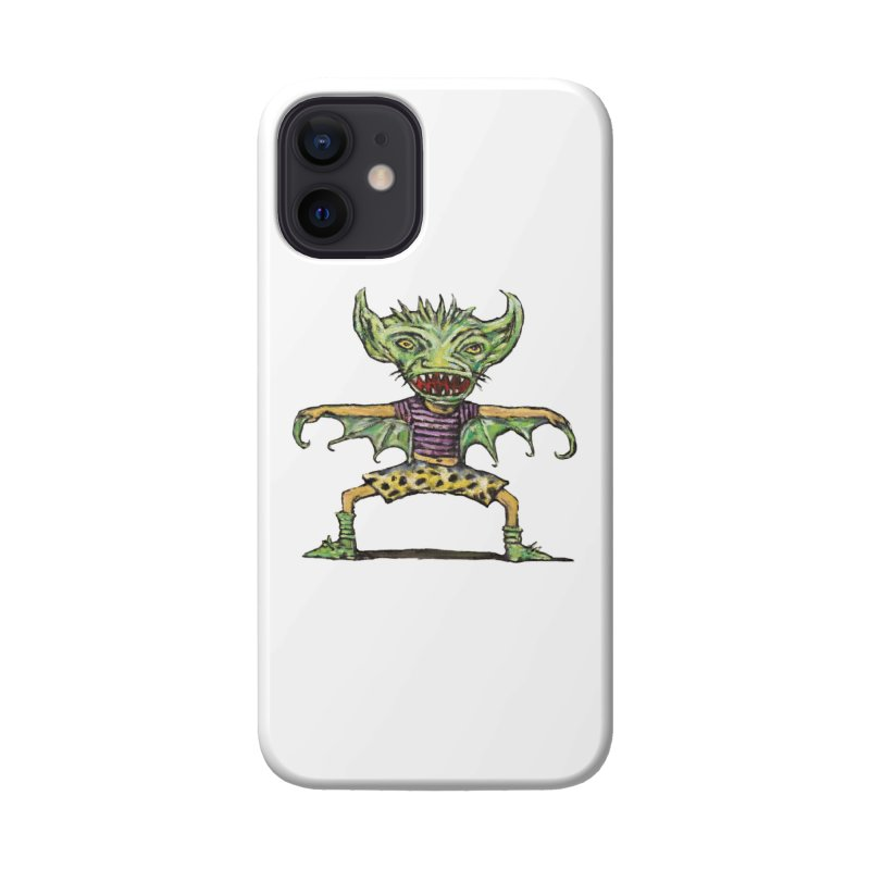 Green Demon Wearing Shorts Accessories Phone Case by Clive Barker