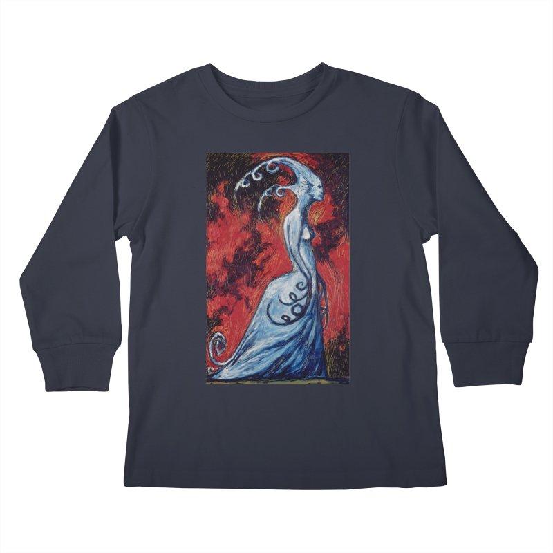 She Waits Kids Longsleeve T-Shirt by Clive Barker