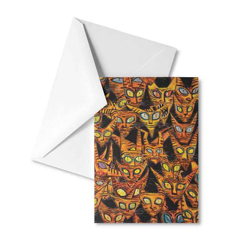 Tarrie Cat Army Accessories Greeting Card by Clive Barker
