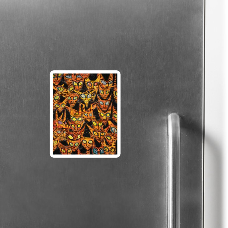 Tarrie Cat Army Accessories Magnet by Clive Barker