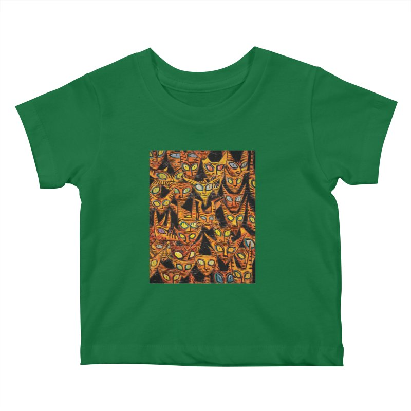 Tarrie Cat Army Kids Baby T-Shirt by Clive Barker