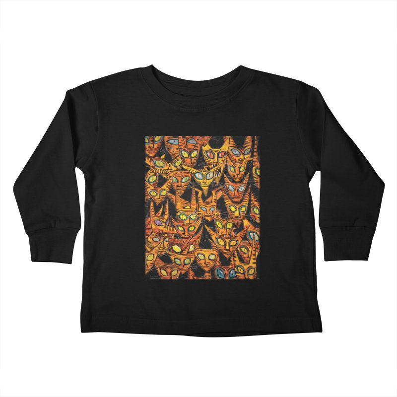 Tarrie Cat Army Kids Toddler Longsleeve T-Shirt by Clive Barker
