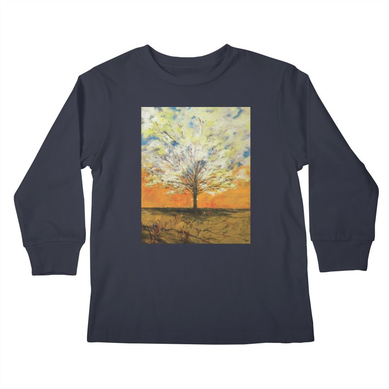 A Tree Full of Sky Kids Longsleeve T-Shirt by Clive Barker