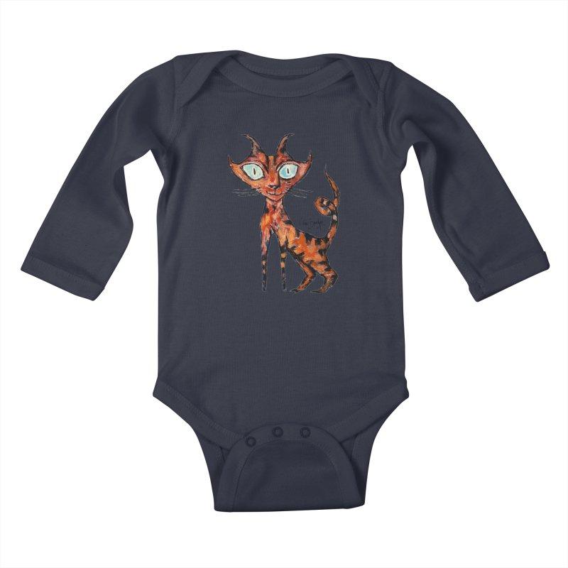 Tarrie Cat Kids Baby Longsleeve Bodysuit by Clive Barker
