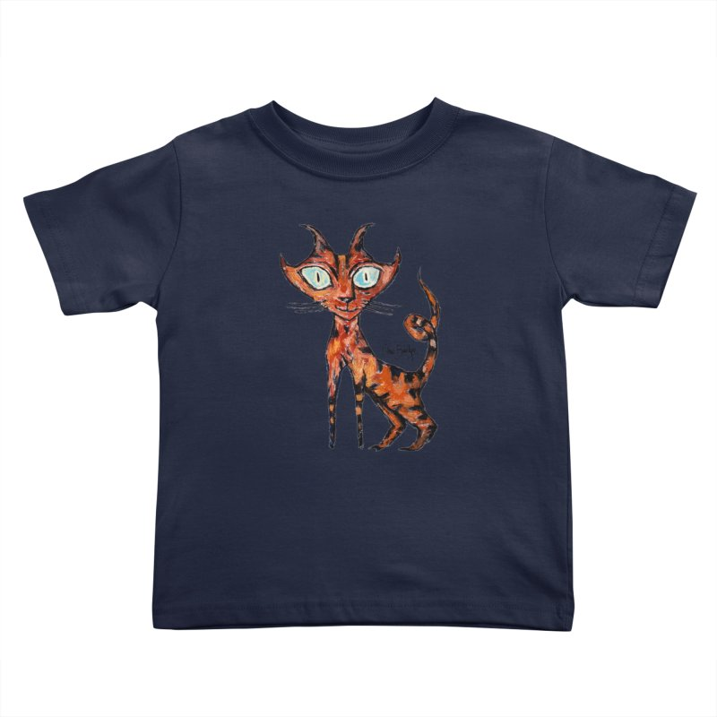 Tarrie Cat Kids Toddler T-Shirt by Clive Barker