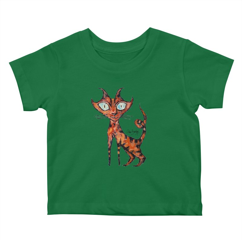 Tarrie Cat Kids Baby T-Shirt by Clive Barker