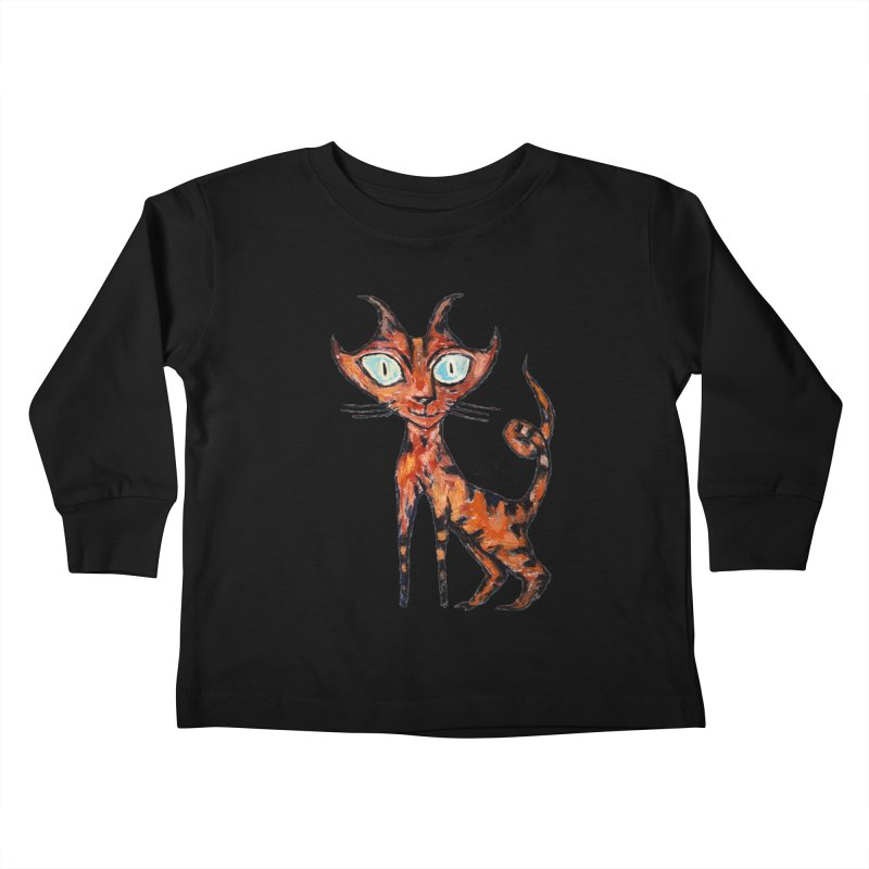 Tarrie Cat Kids Toddler Longsleeve T-Shirt by Clive Barker