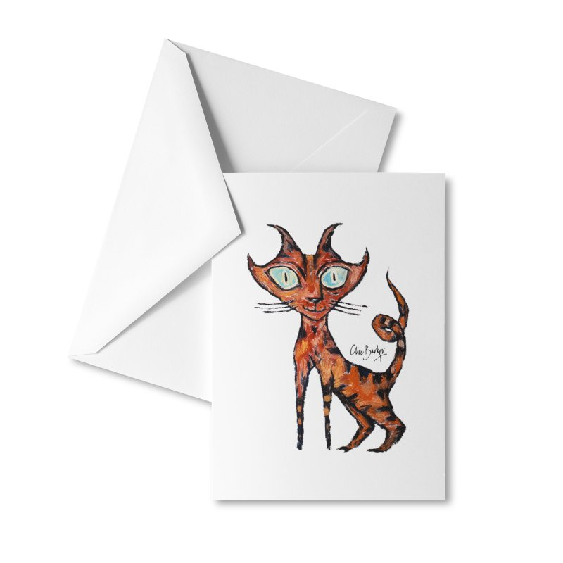 Tarrie Cat Accessories Greeting Card by Clive Barker
