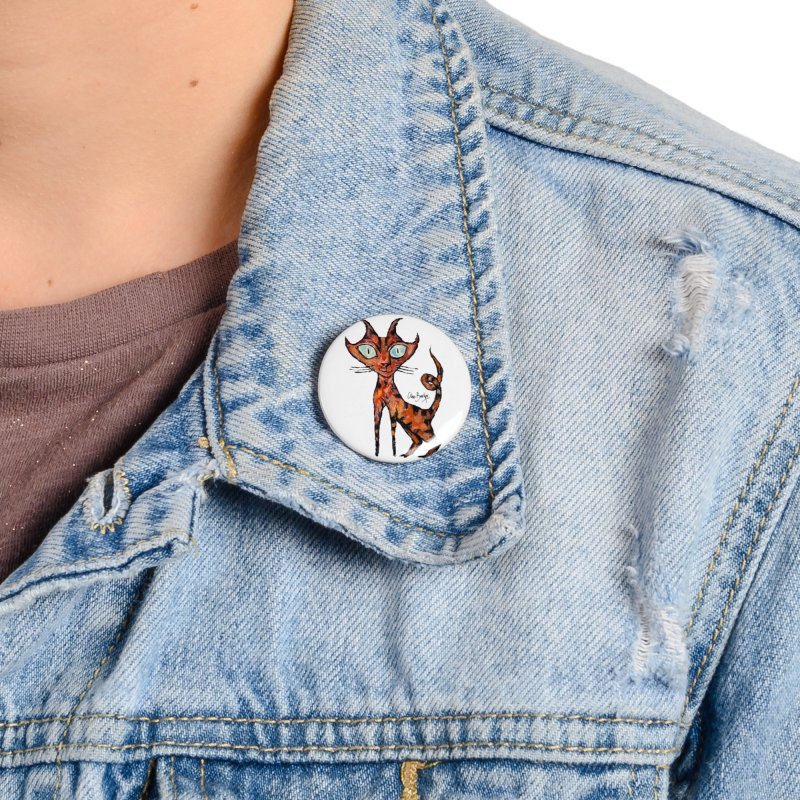 Tarrie Cat Accessories Button by Clive Barker