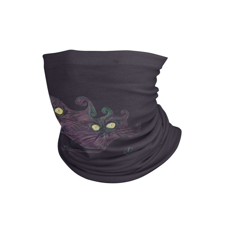 Luminous Eyes (Tarrie Cats at Night) Accessories Neck Gaiter by Clive Barker