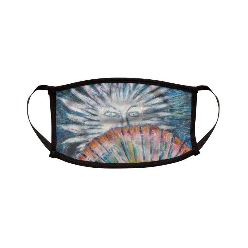 Untitled Woman with Fan Accessories Face Mask by Clive Barker