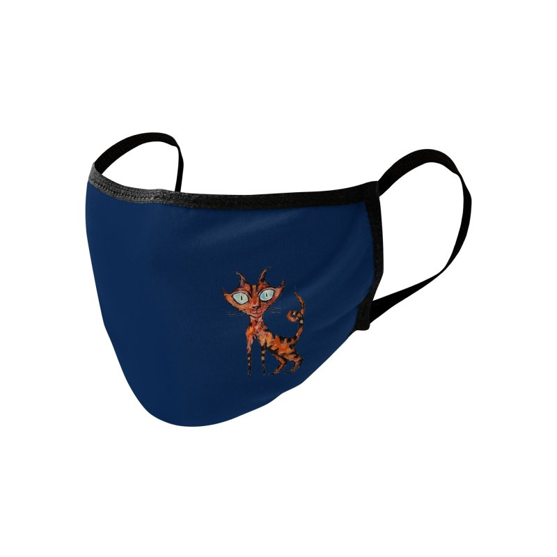 Tarrie Cat (small, navy) Accessories Face Mask by Clive Barker