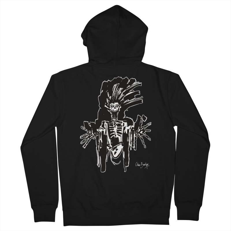 Boo! (outlined) Men's Zip-Up Hoody by Clive Barker