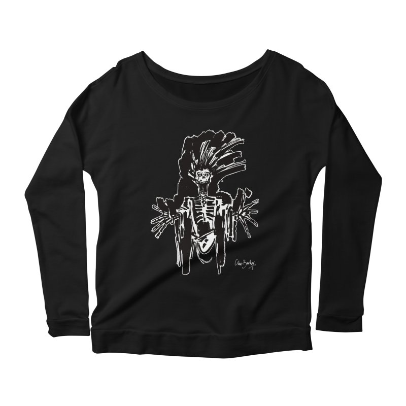 Boo! (outlined) Women's Longsleeve T-Shirt by Clive Barker
