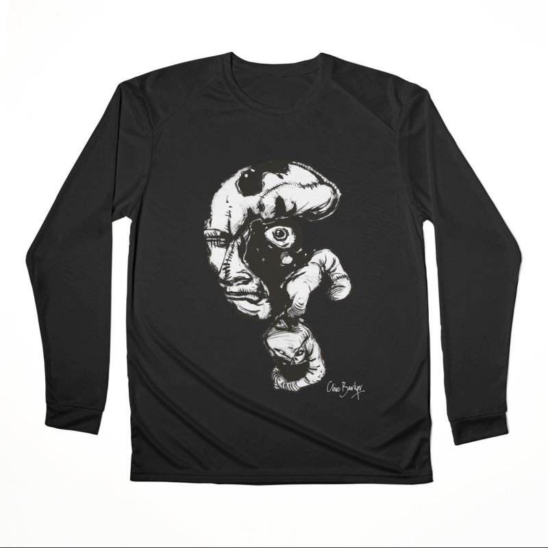 Head with Floating Eye Women's Longsleeve T-Shirt by Clive Barker