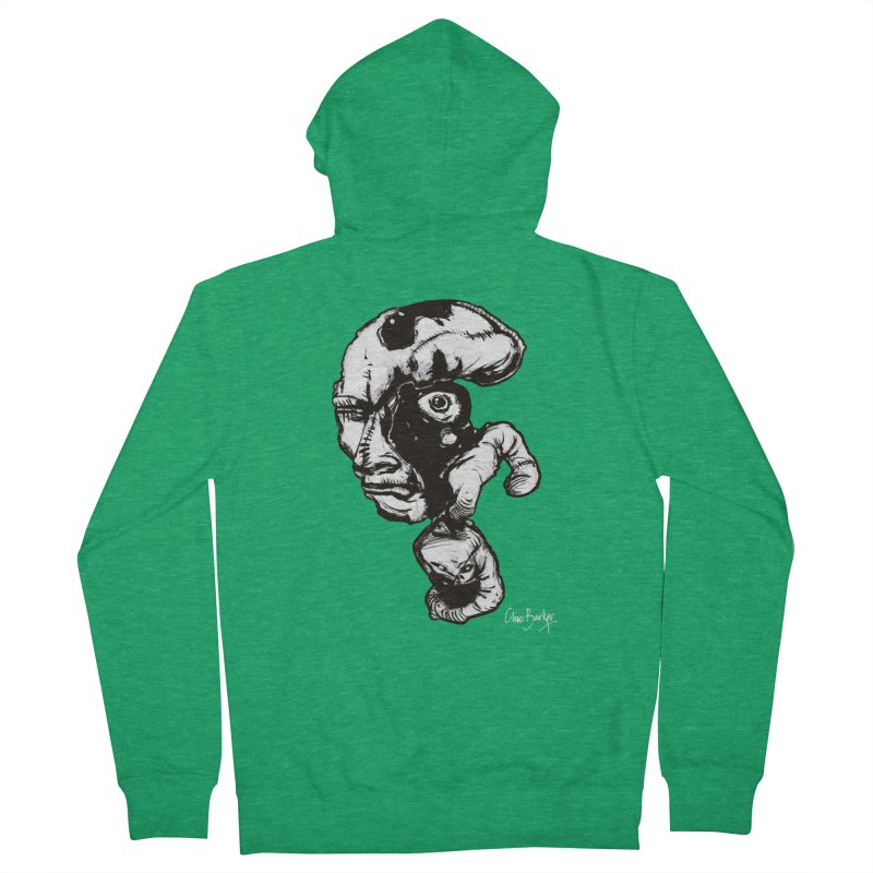 Head with Floating Eye Men's Zip-Up Hoody by Clive Barker