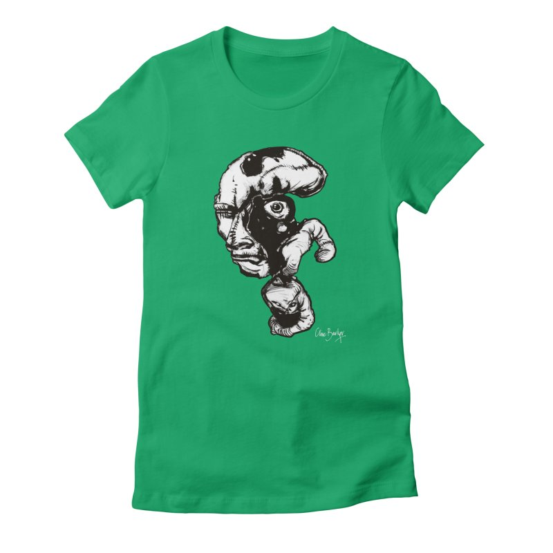 Head with Floating Eye Women's T-Shirt by Clive Barker
