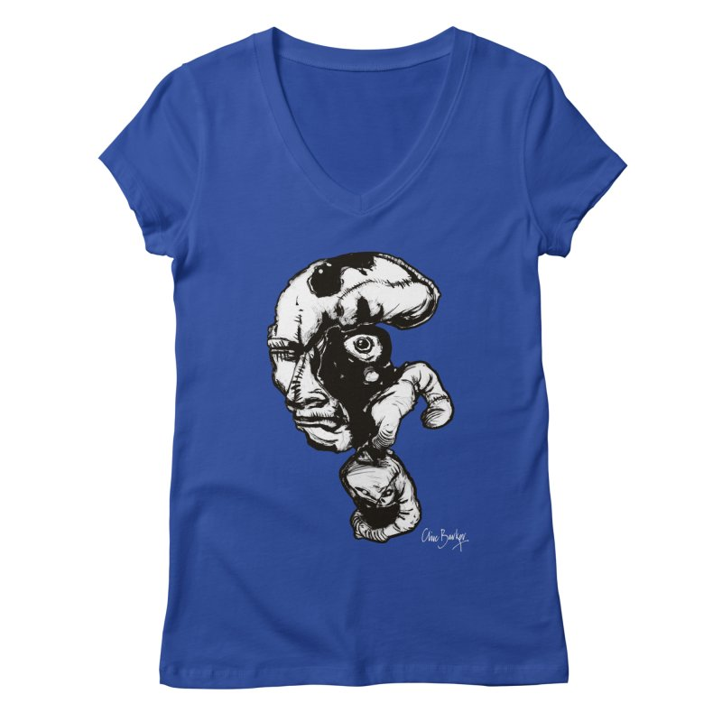 Head with Floating Eye Women's V-Neck by Clive Barker