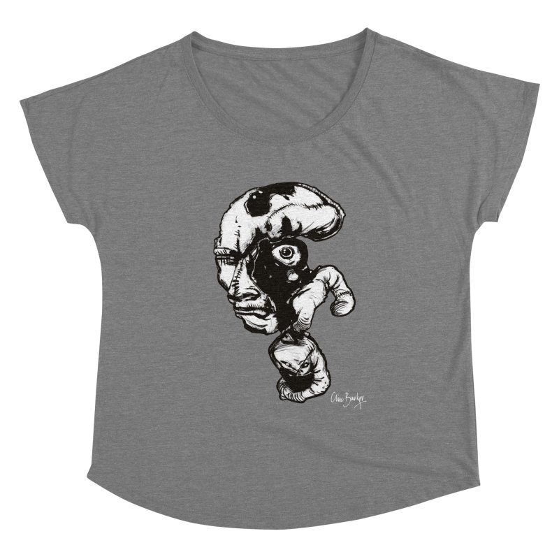 Head with Floating Eye Women's Scoop Neck by Clive Barker