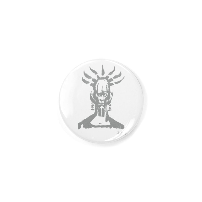 Untitled Shaman (smoke) Accessories Button by Clive Barker