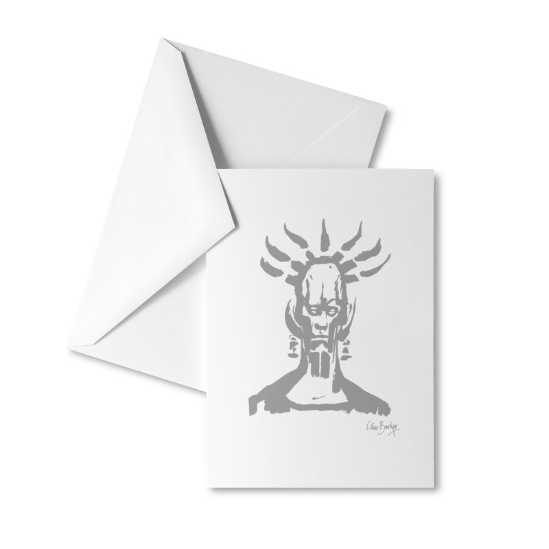 Untitled Shaman (smoke) Accessories Greeting Card by Clive Barker