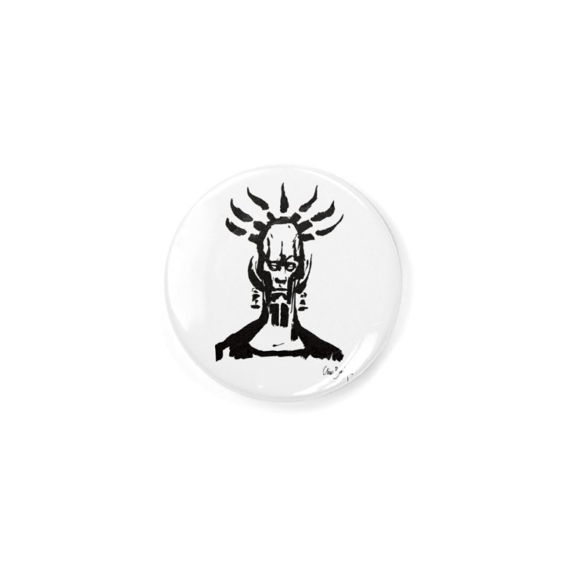 Untitled Shaman Accessories Button by Clive Barker