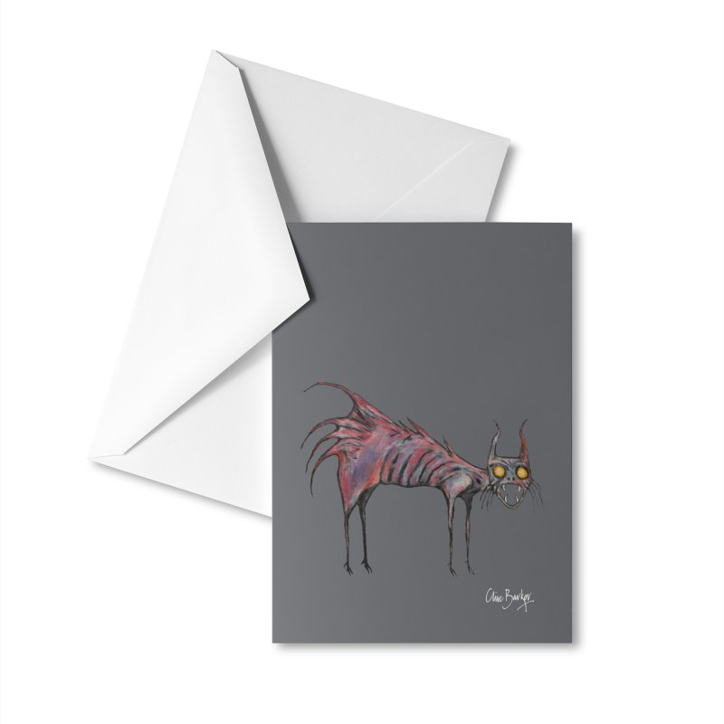 Screaming Cat Accessories Greeting Card by Clive Barker