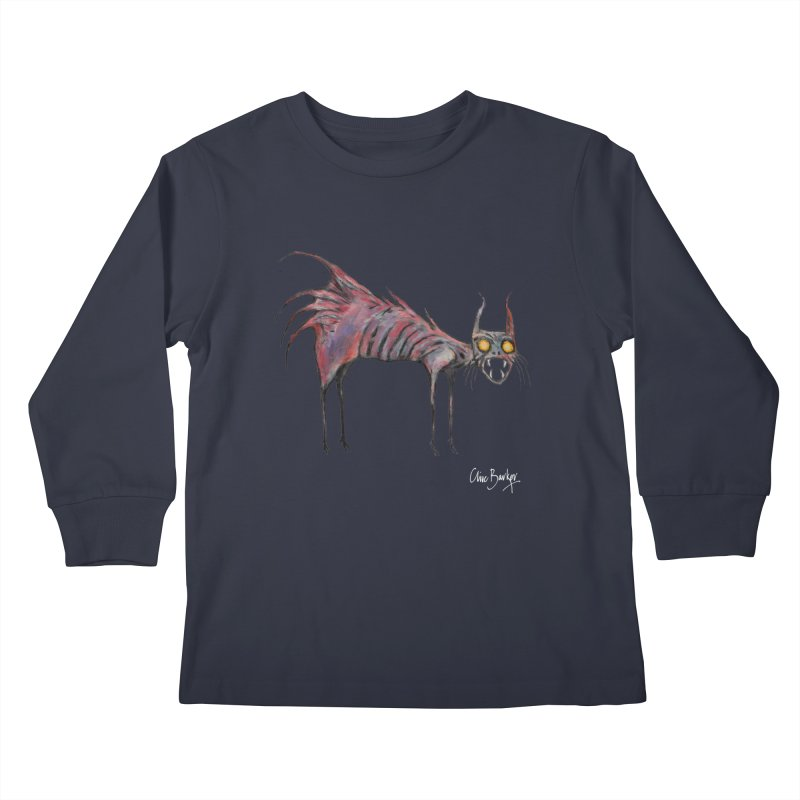 Screaming Cat Kids Longsleeve T-Shirt by Clive Barker