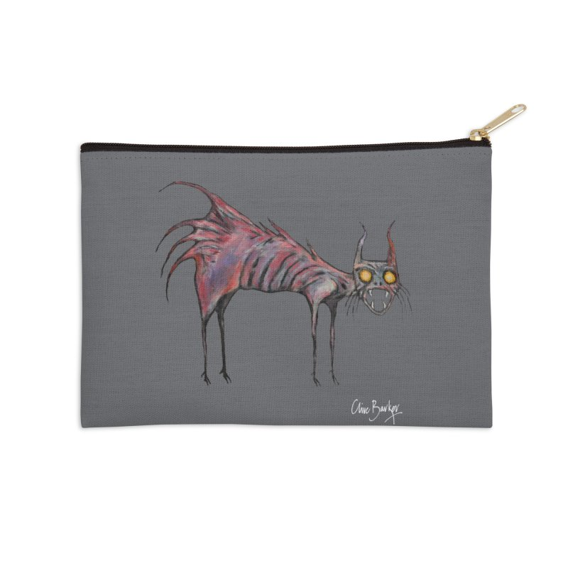 Screaming Cat Accessories Zip Pouch by Clive Barker