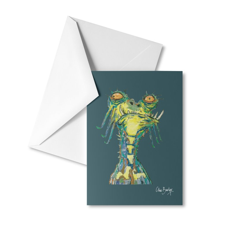A Zethek Accessories Greeting Card by Clive Barker
