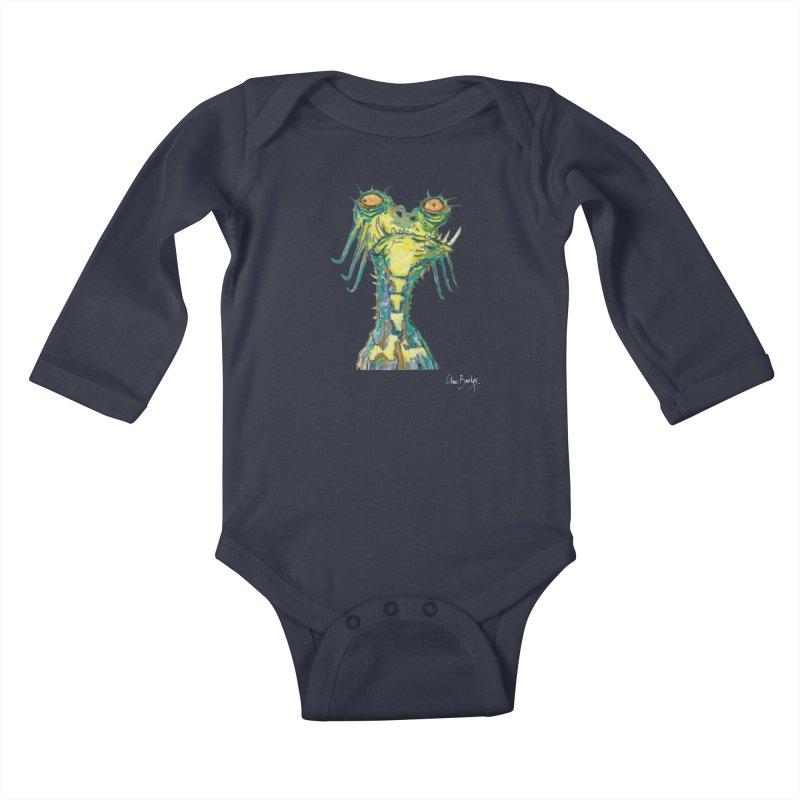 A Zethek Kids Baby Longsleeve Bodysuit by Clive Barker
