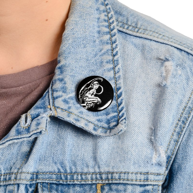 Harvey Swick (outlined) Accessories Button by Clive Barker