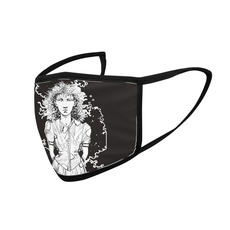 Lulu (outlined) Accessories Face Mask by Clive Barker