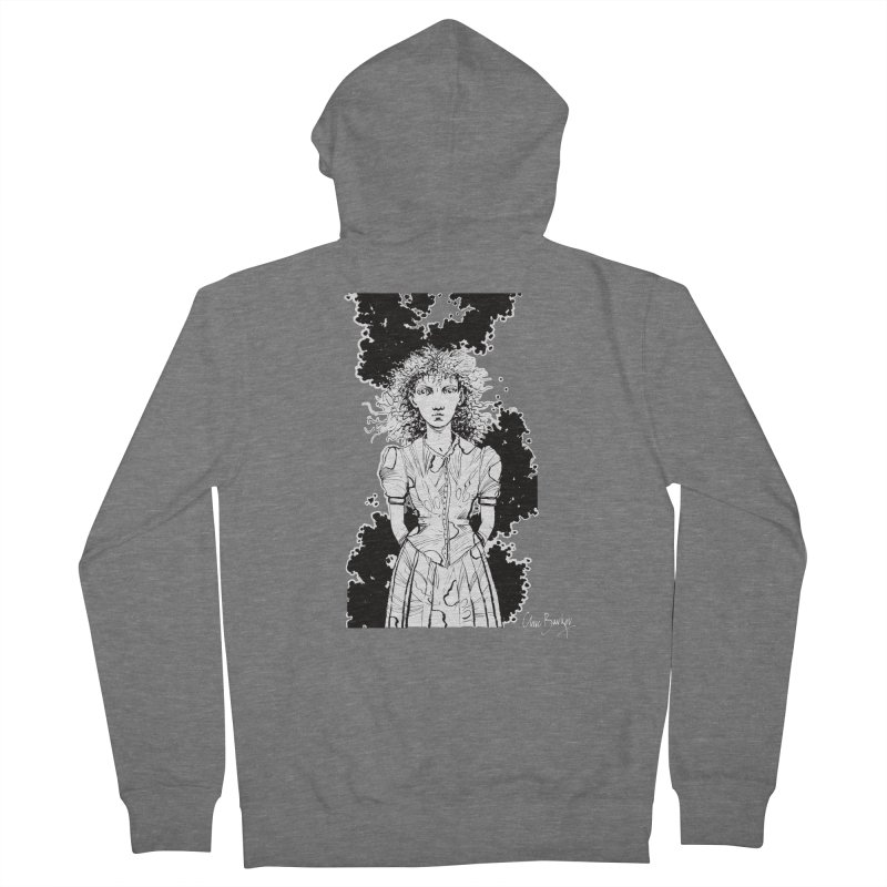 Lulu (outlined) Men's Zip-Up Hoody by Clive Barker