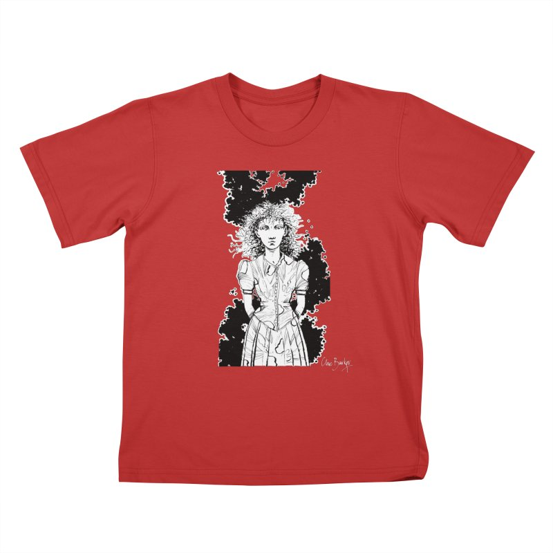 Lulu (outlined) Kids T-Shirt by Clive Barker