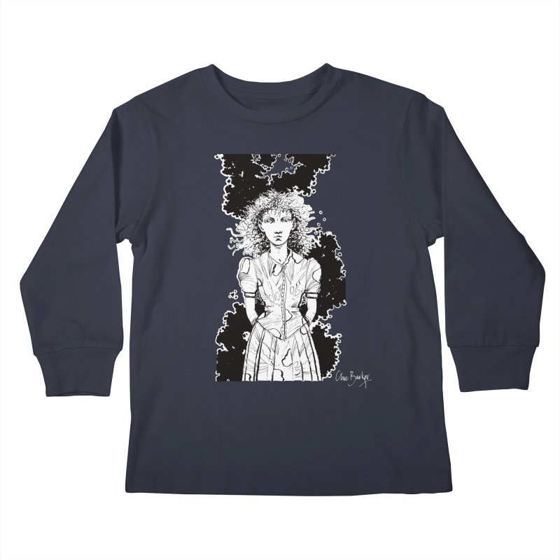 Lulu (outlined) Kids Longsleeve T-Shirt by Clive Barker