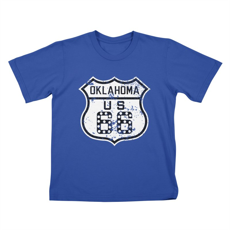 Oklahoma 66 Faded Kids T-Shirt by Cloudless Lens