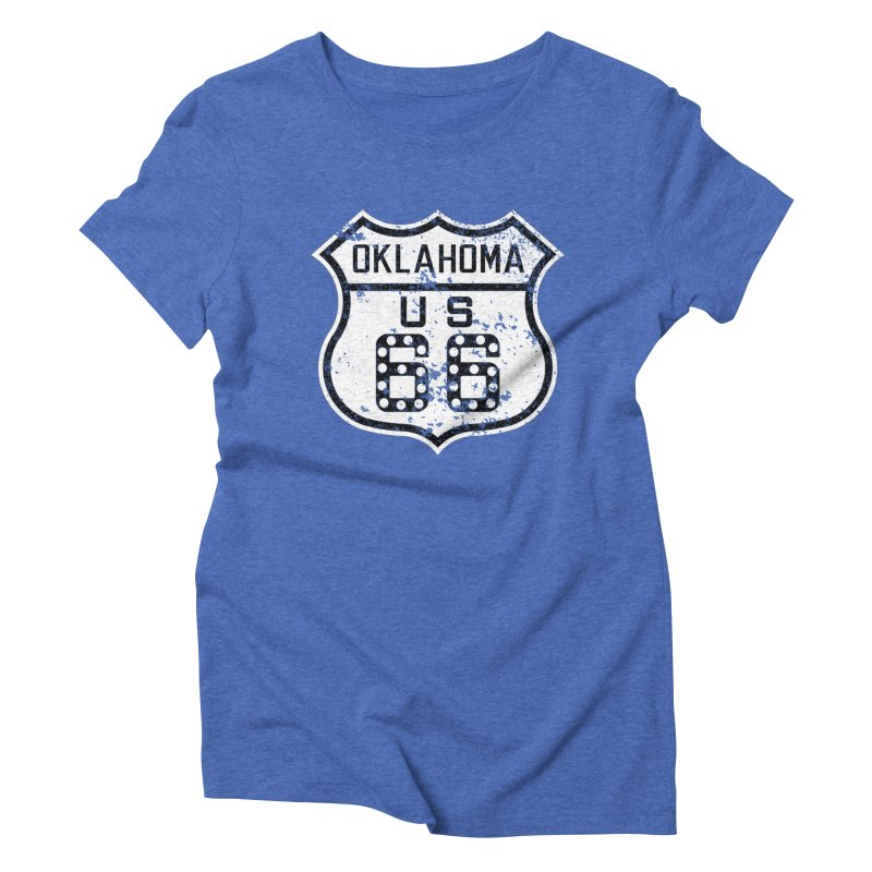 Oklahoma 66 Faded Women's Triblend T-Shirt by Cloudless Lens