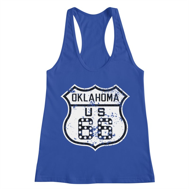 Oklahoma 66 Faded Women's Racerback Tank by Cloudless Lens