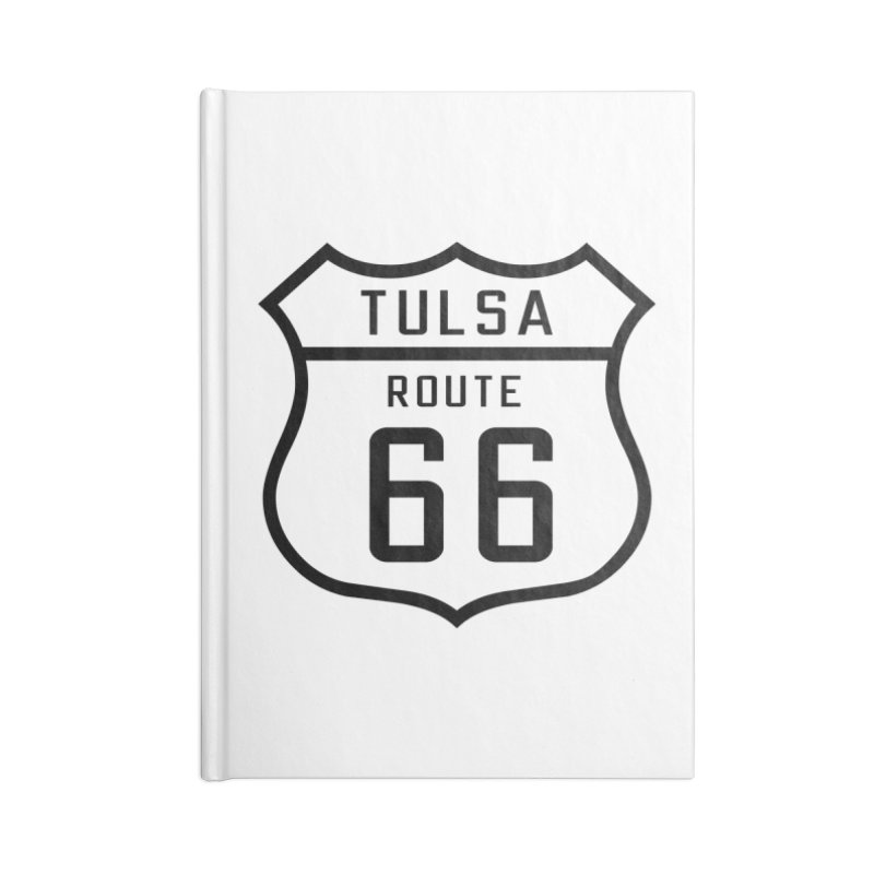 Tulsa 66 Accessories Blank Journal Notebook by Cloudless Lens