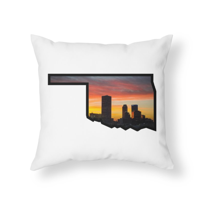 OK Tulsa Home Throw Pillow by Cloudless Lens