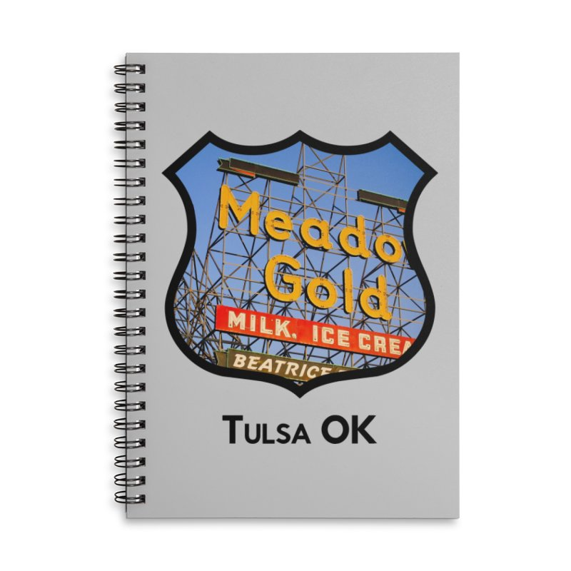 Meadow Gold Accessories Lined Spiral Notebook by Cloudless Lens