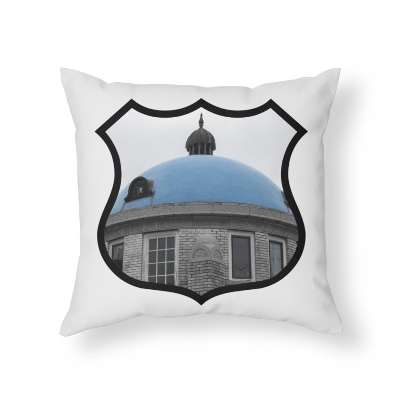 Blue Dome Home Throw Pillow by Cloudless Lens