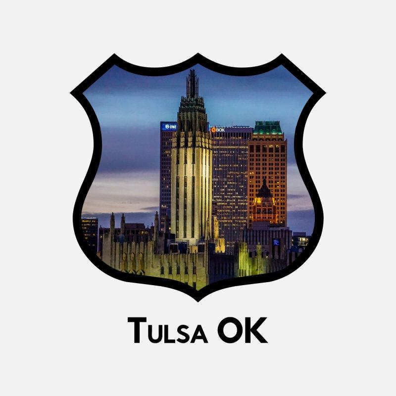 Tulsa Skyline Men's V-Neck by Cloudless Lens