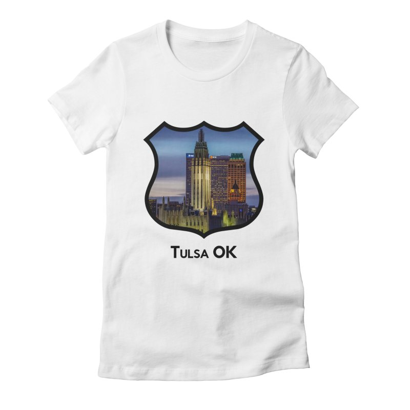 Tulsa Skyline Women's Fitted T-Shirt by Cloudless Lens
