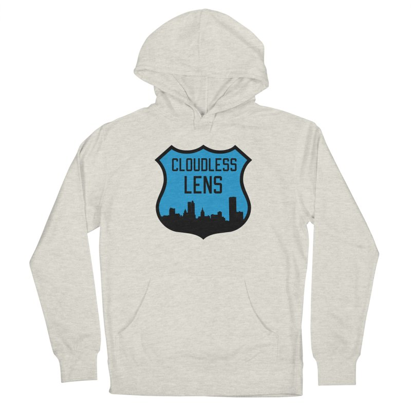 Cloudless Lens Logo Women's French Terry Pullover Hoody by Cloudless Lens